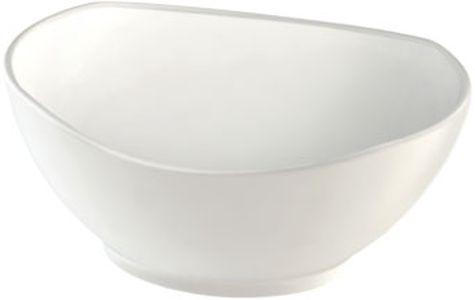 miska d15cm, 350ml, ovál.polévk., bílý melamin