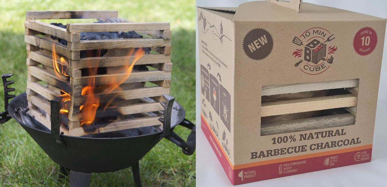 soupr.GRIL BBQ box, 100%NATURAL (dřevo+dř.uhlí)