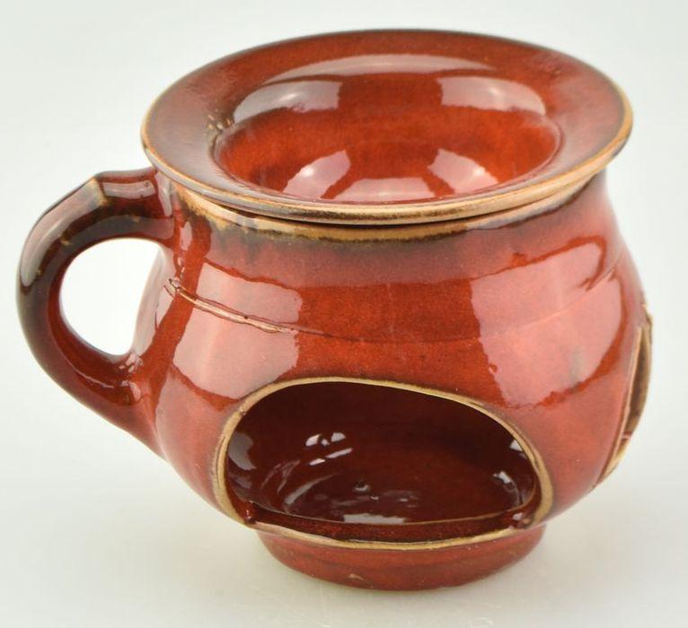 lampa-aroma d10cm, výška 10cm, ČERVENÁ, keramika