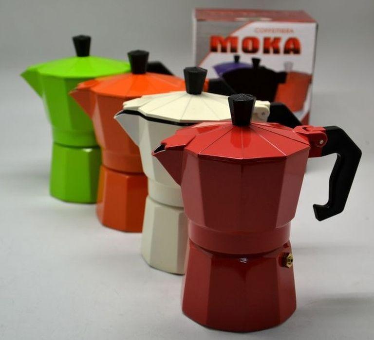 kávovar 3šálkový, ESPRESSO, barevný hliník