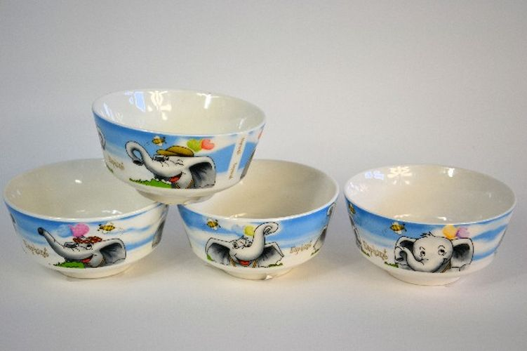 miska 360ml, d12x6,5cm, SLONI, dětská, keramika