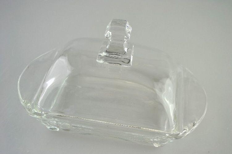 máslenka s víčkem, hladké sklo
