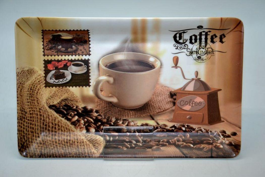 podnos 31x19,5x2,5cm, COFFEE, plast