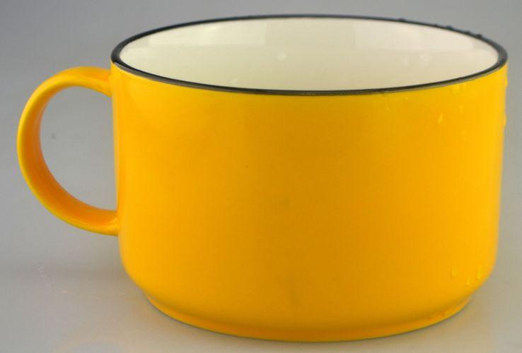 hrnek 800ml ŽLUTÝ, keramika