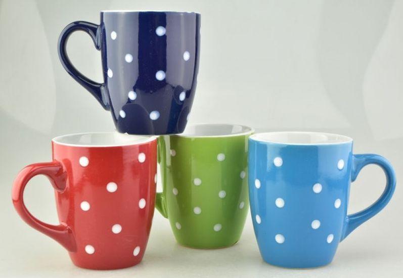 hrnek 300ml, PUNTÍK, MIX barev, keramika