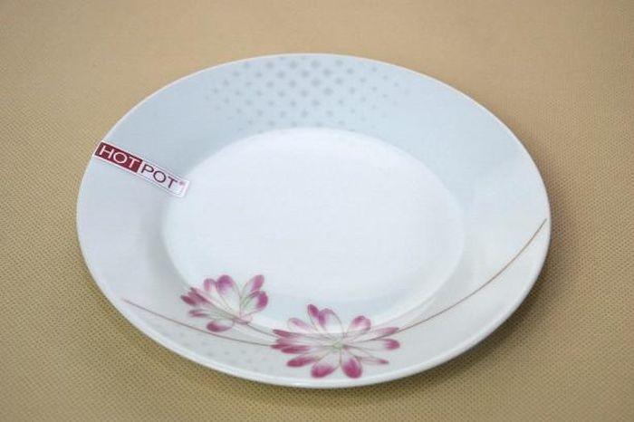 talíř d19cm dezert., BELLA kytka, porcelán