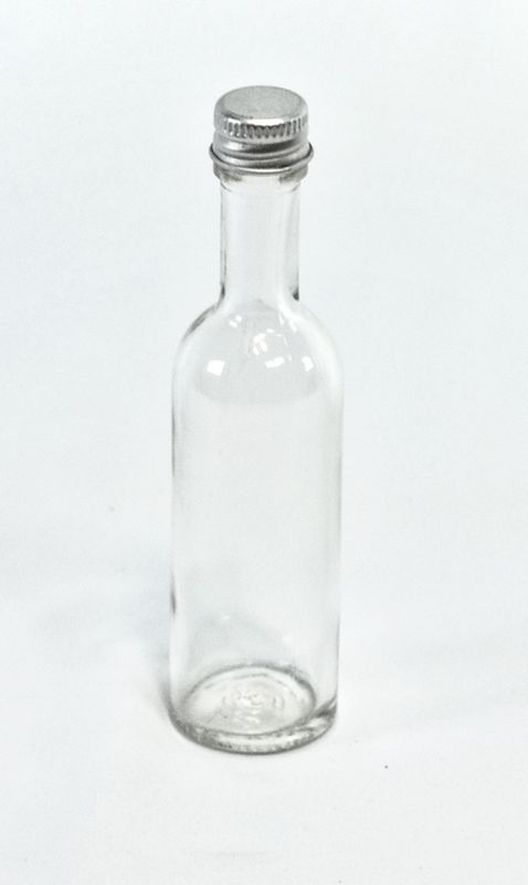 láhev  50ml LIKÉR, sklo+kov.uzávěr