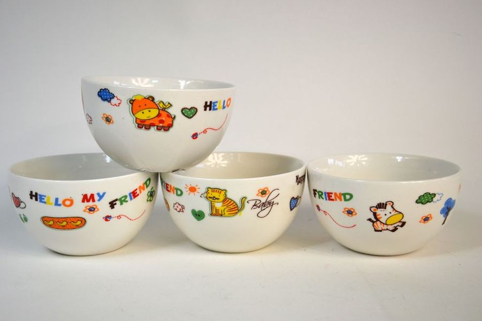 miska 490ml, DĚTSKÝ MOTIV, 4DEKORY, keramika