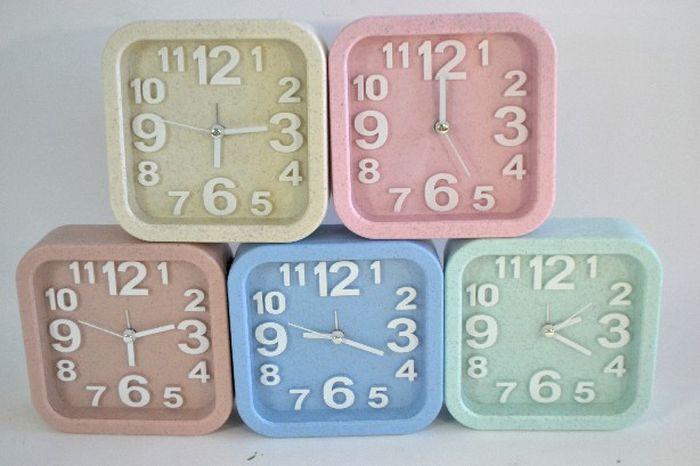 hodiny+budík, RETRO, 5 barev, nástěnné