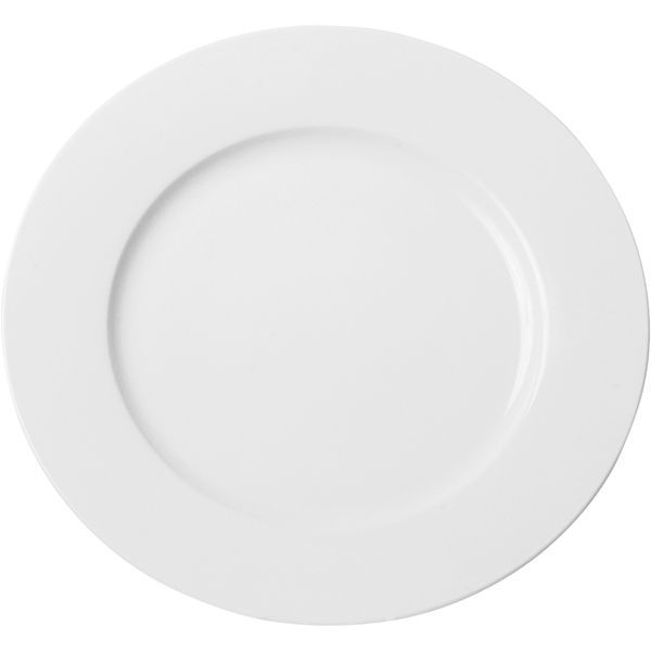 talíř d27cm mělký, PRAKTIK, bílý porcelán