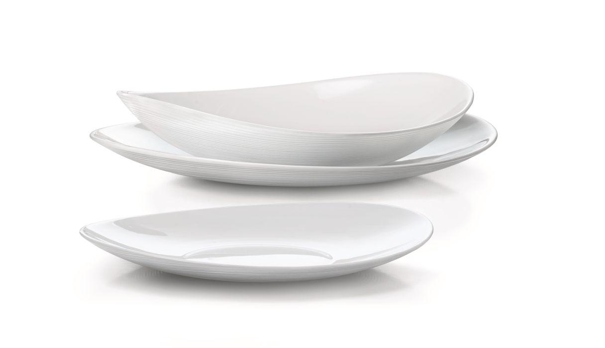 soupr.18díl.jídelní PROMETEO,opál.sklo
