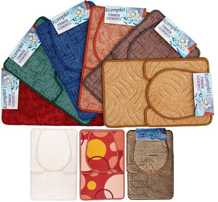 soupr. 3dílná (předložka koup.+WC, WC pokrývka) textil, MIX dekorů