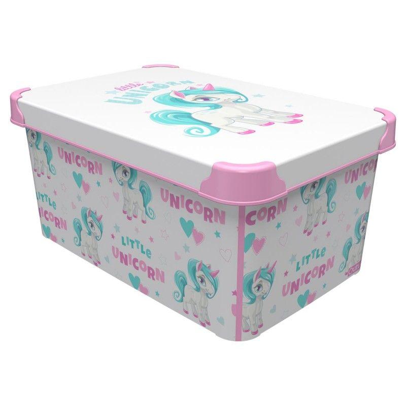 box 10,0l JEDNOROŽEC 34,5x23x16cm, dětský, plast