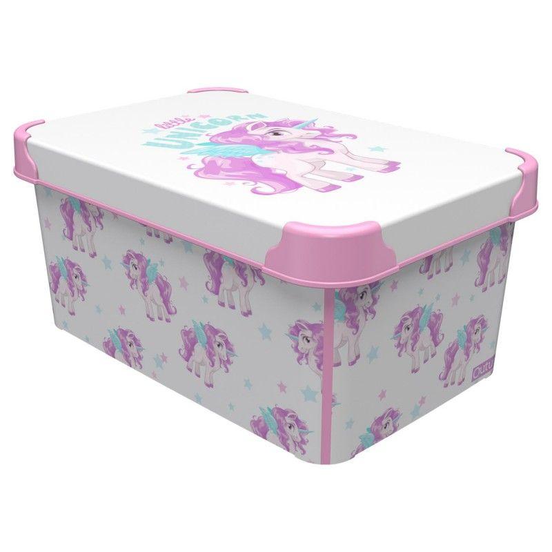 box  5,0l JEDNOROŽEC 28x19x13,5cm, dětský, plast