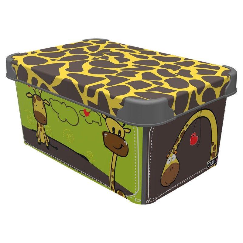 box  5,0l ŽIRAFA 28x19x13,5cm, dětský, plast