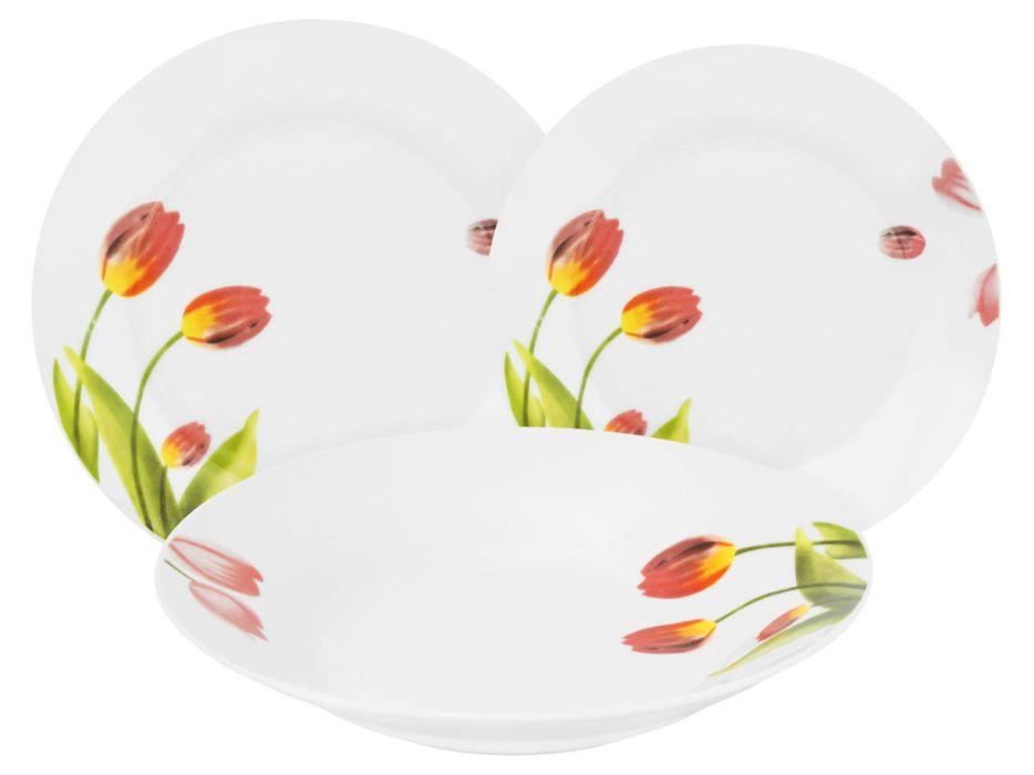 soupr.18díl.jídelní TULIPÁNY, keramika