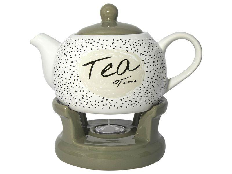 čajník 1,0l TEA Time, BL-T-2, s ohřívačem, keramika