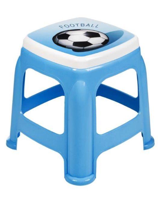 taburetka 25x25,v.34cm-míč, modrá, plast