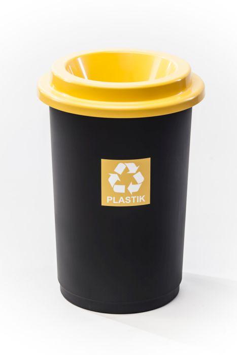 koš odp.50l ECO BIN žlutý,tříd.odp.,plast