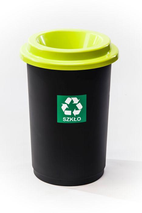 koš odp.50l ECO BIN zelený,tříd.odp.,plast