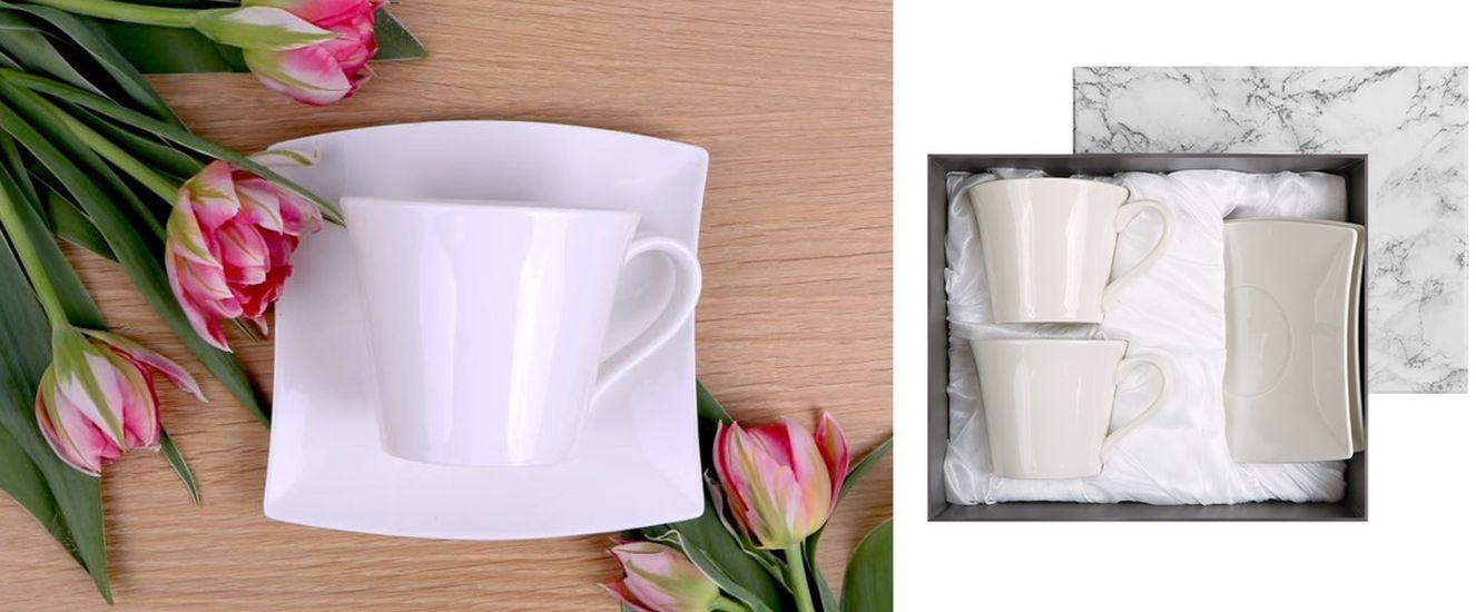 šapo 220ml, 2ks, ZARA, bílý porcelán DB