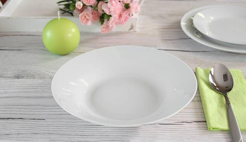 talíř d23cm hluboký (500ml), bílý porcelán