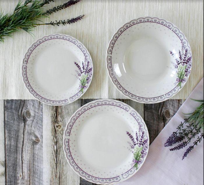soupr.18díl.jídelní LEVANDULE, porcelán