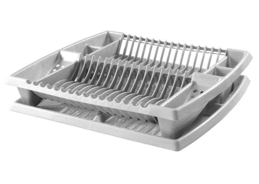 odkapávač nádobí 44x38x8,5-stříbrný