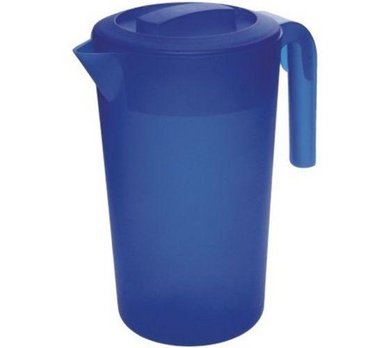 džbán 2,0l kulatý MODRÝ, plast