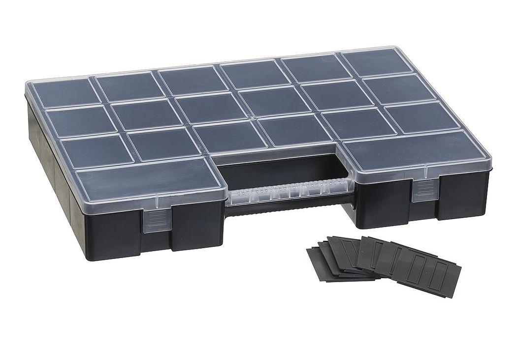 box LUXOR HOBBY W/12, 35,5x5,6cm, 12xdělítka, plast
