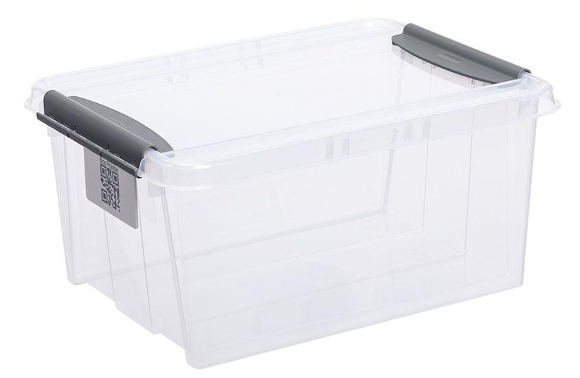 box 14,0l 290x195x185mm, klipsy, plast