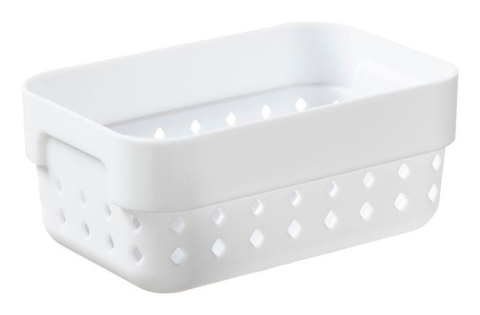 košík SEOUL S-organ., 12x8x5cm-bílý, plast