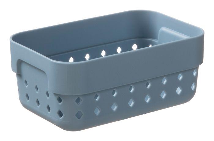 košík SEOUL S-organ., 12x8x5cm-modroš. plast