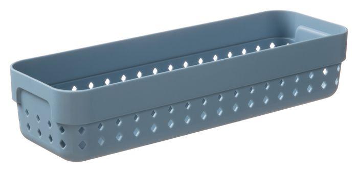 košík SEOUL M-organ., 24x8x5cm-modroš., plast