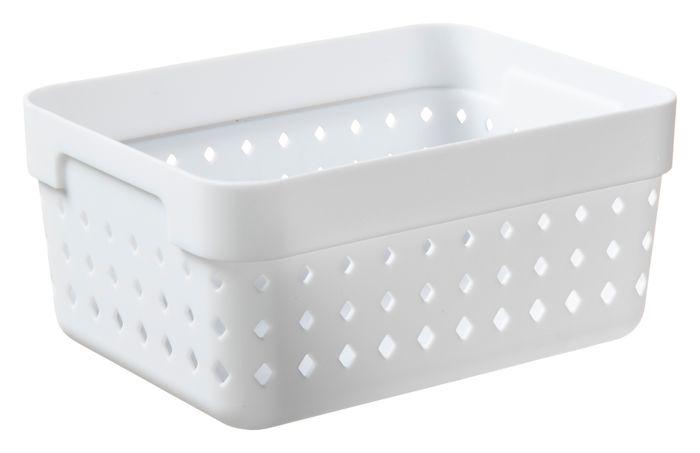 košík SEOUL L-organ., 16x12x7cm-bílý, plast