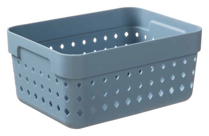 košík SEOUL L-organ., 16x12x7cm-modroš., plast