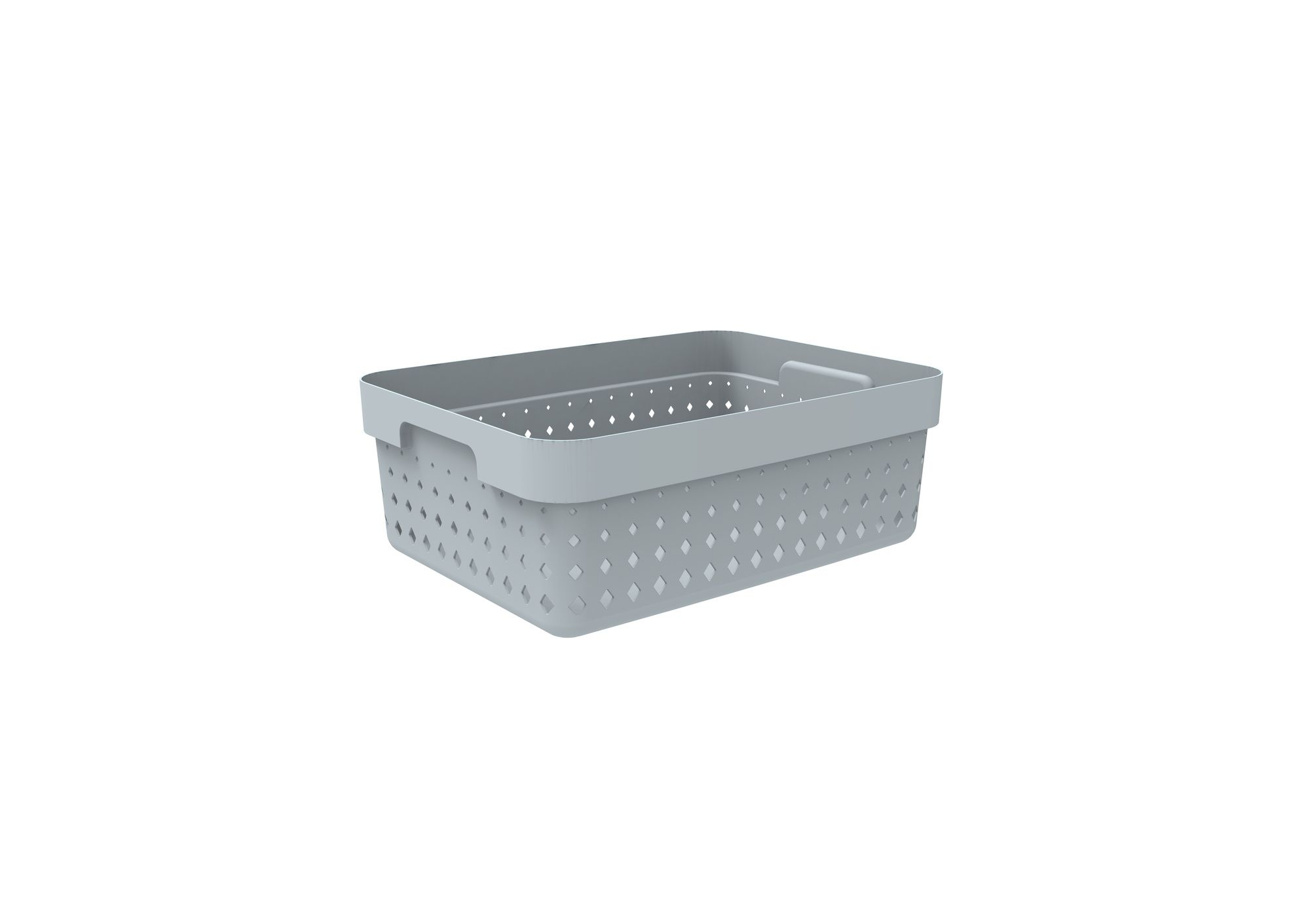 košík SEOUL M, 36x27x13cm-šedý, plast