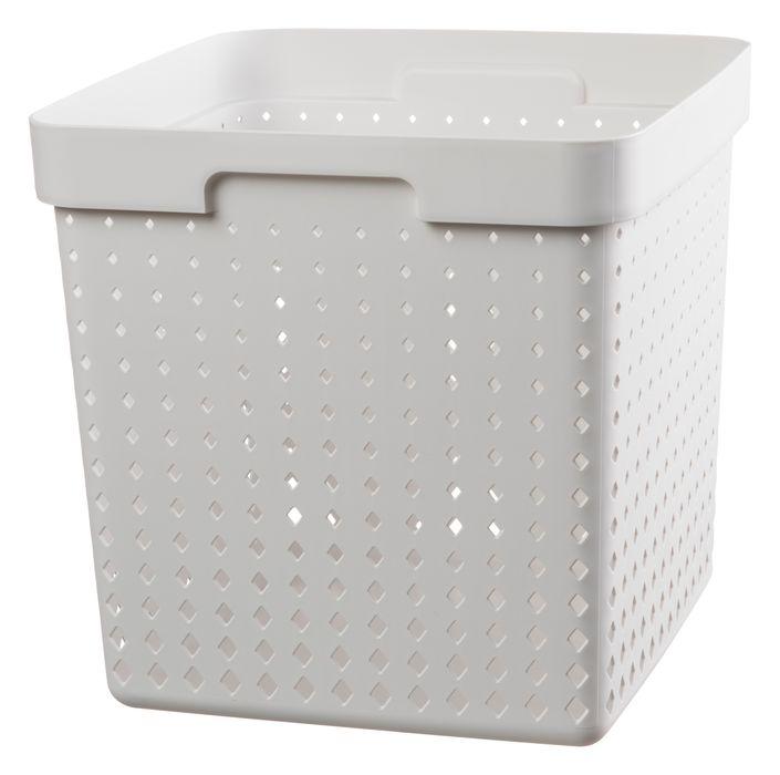 košík SEOUL XL, 30x30x30cm-bílý, plast