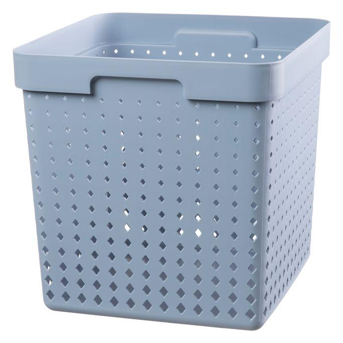 košík SEOUL XL, 30x30x30cm-modroš., plast