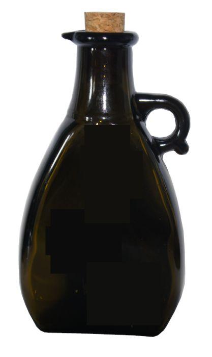 láhev 0,2l sklo černé+kork.zátka, ocet/olej