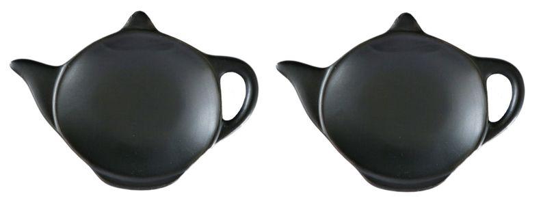 podčajník 2ks KONVIČKA-BLACK/WHITE,12x8,5cm,porcelán