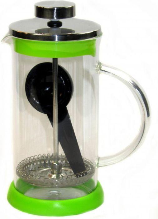 konvice 0,35l ZELENÁ, COFFEE MAKER+odměrka, sklo+plast