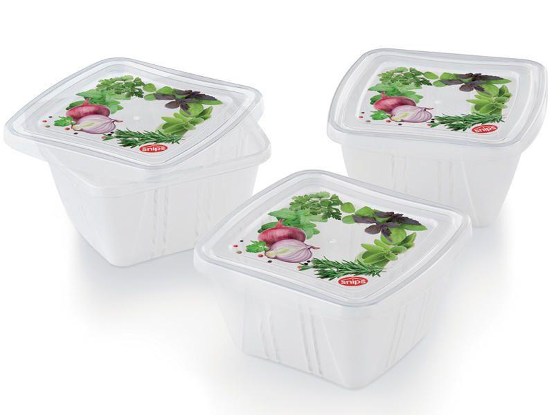 box 0,25l FRESH-3ks-10x10x5,5cm, plast