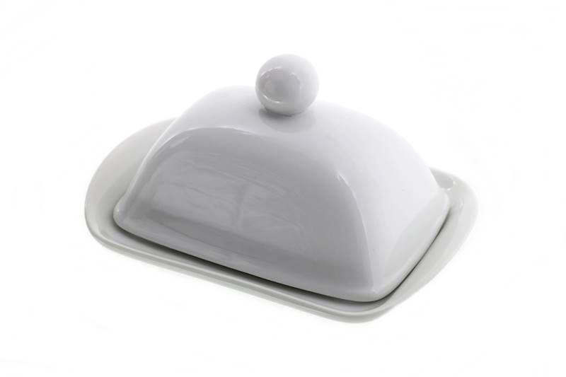 máslenka 19x13,5x10cm bílá, porcelán