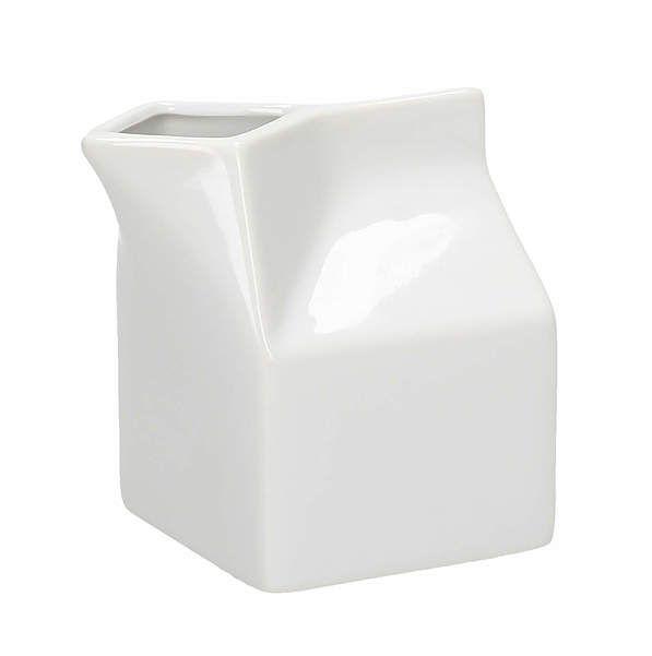 mlékovka 250ml moderní, bílá porcelán