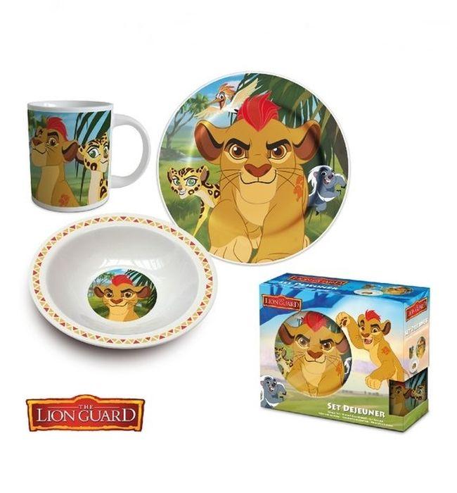 soupr. 3díl.LION GUARD-dětská jíd., porcelán