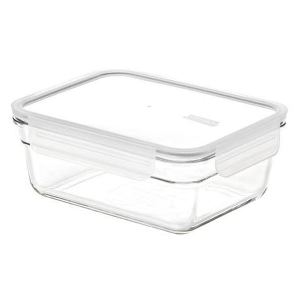 dóza 0,97l GLASSLOCK obd.zap., sklo+víčko plast