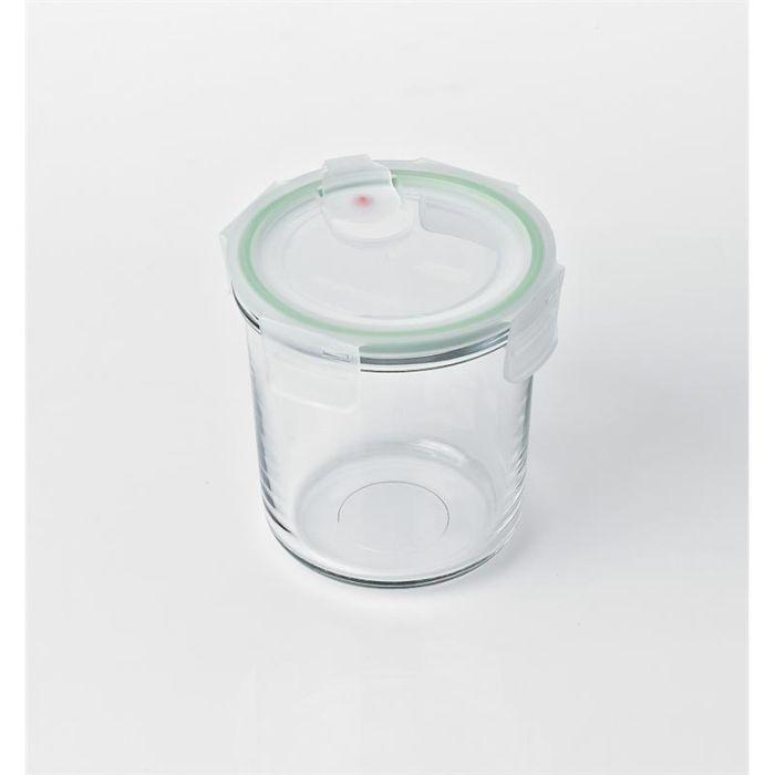 dóza 0,72l GLASSLOCK kul.+víčko mikrovl.plast