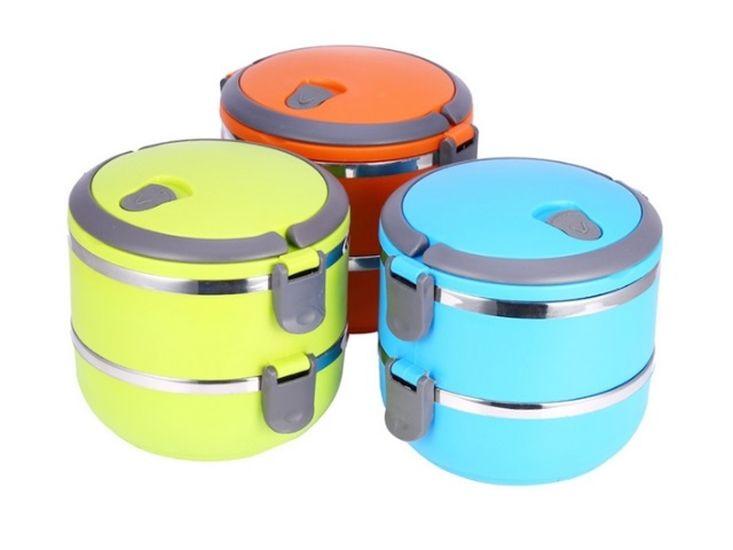 jídlonosič 2D (2x0,7l) TERMO, MIX barev, NR/plast