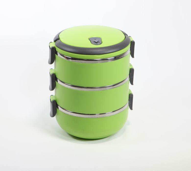 jídlonosič 3D (3x0,7l) TERMO, MIX barev, NR/plast